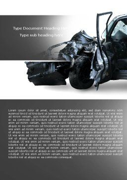 Accident Word Template, Cover Page, 05346, Consulting — PoweredTemplate.com