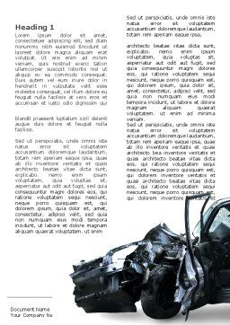Accident Word Template, First Inner Page, 05346, Consulting — PoweredTemplate.com