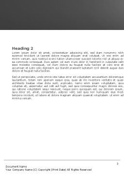 Accident Word Template, Second Inner Page, 05346, Consulting — PoweredTemplate.com