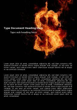Flaming Dollar Word Template Cover Page