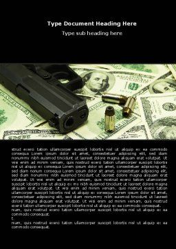 Money and Guns Word Template, Cover Page, 05349, Financial/Accounting — PoweredTemplate.com