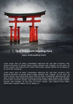 Ancient Japan Word Template Cover Page