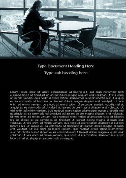 Waiting Word Template, Cover Page, 05351, Business — PoweredTemplate.com