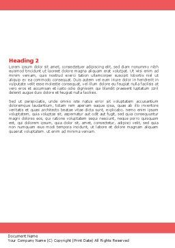 Medical Diagnosis Word Template Second Inner Page