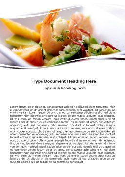 Shrimp Word Template, Cover Page, 05355, Food & Beverage — PoweredTemplate.com