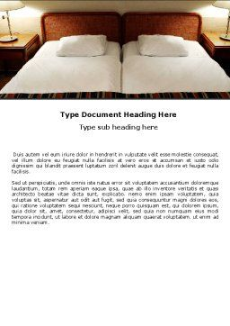 Motel Room Word Template, Cover Page, 05357, Careers/Industry — PoweredTemplate.com