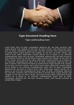 Dealing Word Template, Cover Page, 05359, Business — PoweredTemplate.com