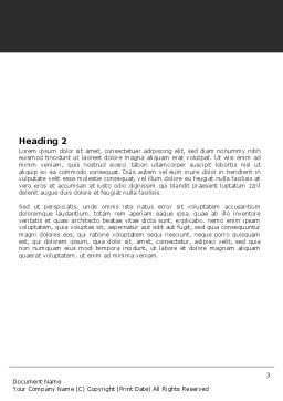 Dealing Word Template, Second Inner Page, 05359, Business — PoweredTemplate.com