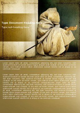 Asian Poverty Word Template, Cover Page, 05361, People — PoweredTemplate.com