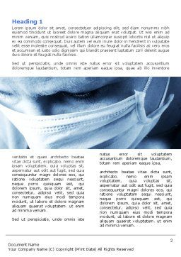 Surgeon Word Template, First Inner Page, 05362, Medical — PoweredTemplate.com
