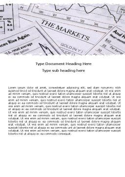 Market Overview Word Template Cover Page
