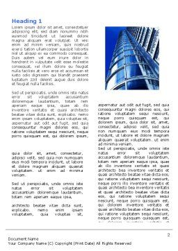 Urban Architecture Word Template, First Inner Page, 05365, Construction — PoweredTemplate.com