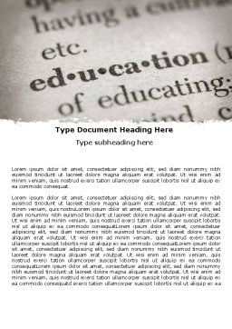 Glossary Word Template, Cover Page, 05367, Education & Training — PoweredTemplate.com