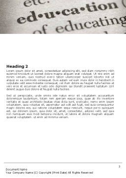 Glossary Word Template, Second Inner Page, 05367, Education & Training — PoweredTemplate.com