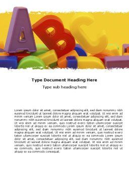 Alphabet Word Template, Cover Page, 05374, Education & Training — PoweredTemplate.com