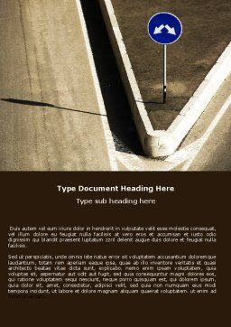 Crossing Roads Word Template, Cover Page, 05375, Consulting — PoweredTemplate.com