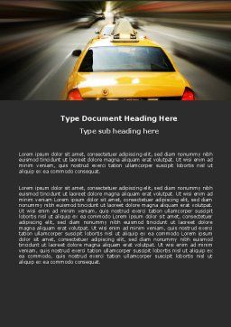 City Taxi Word Template, Cover Page, 05379, Cars/Transportation — PoweredTemplate.com