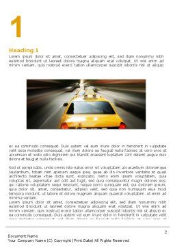 City Taxi Word Template, First Inner Page, 05379, Cars/Transportation — PoweredTemplate.com