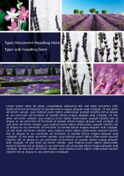 Lavender Word Template, Cover Page, 05380, Agriculture and Animals — PoweredTemplate.com