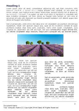 Lavender Word Template, First Inner Page, 05380, Agriculture and Animals — PoweredTemplate.com