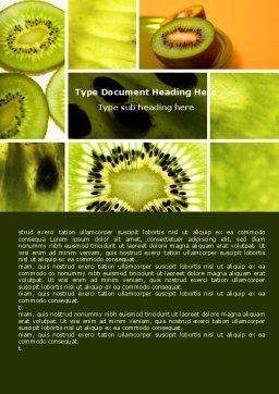Kiwifruit Word Template, Cover Page, 05382, Food & Beverage — PoweredTemplate.com