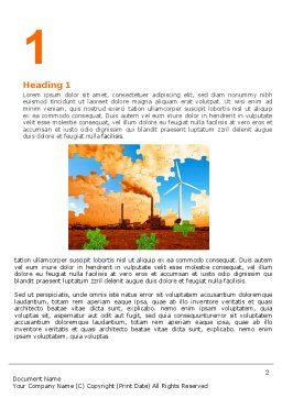 Wind Energy Versus Coal Plant Word Template, First Inner Page, 05385, Nature & Environment — PoweredTemplate.com