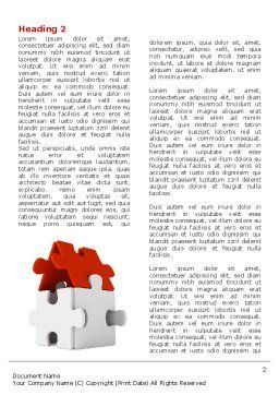 House Puzzle Word Template, First Inner Page, 05387, Business — PoweredTemplate.com