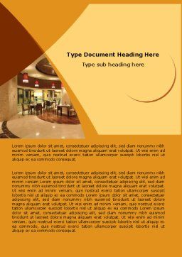 Hotel Restaurant Word Template, Cover Page, 05392, Careers/Industry — PoweredTemplate.com