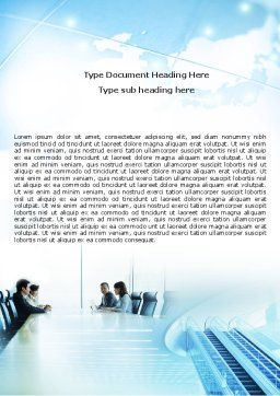 Asian Company Word Template, Cover Page, 05394, Business — PoweredTemplate.com