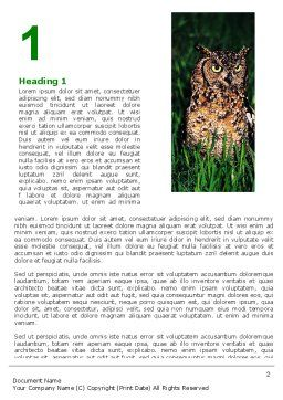 Owl Collage Word Template, First Inner Page, 05395, Education & Training — PoweredTemplate.com