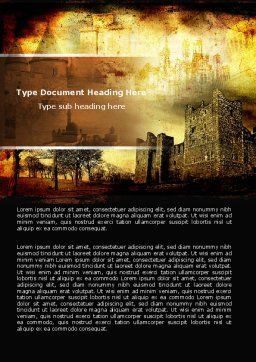 Castles And Fortress Word Template, Cover Page, 05396, Education & Training — PoweredTemplate.com