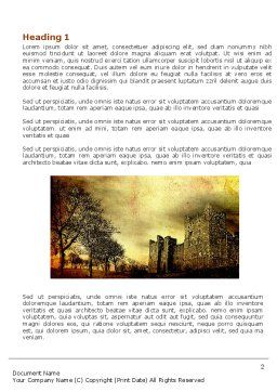 Castles And Fortress Word Template First Inner Page