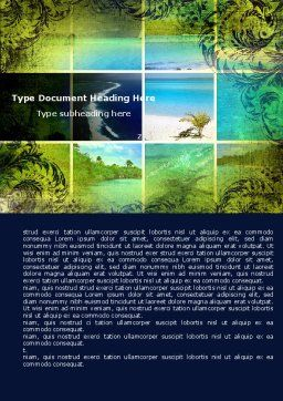 Exotic Islands Word Template, Cover Page, 05402, Careers/Industry — PoweredTemplate.com