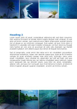 Exotic Islands Word Template, Second Inner Page, 05402, Careers/Industry — PoweredTemplate.com