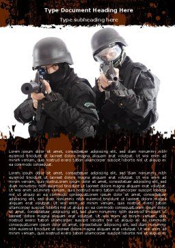 SWAT Word Template, Cover Page, 05404, Military — PoweredTemplate.com