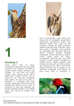 Woodpecker Word Template First Inner Page