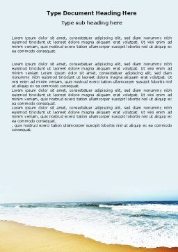 Sea Shore Word Template, Cover Page, 05409, Nature & Environment — PoweredTemplate.com