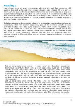 Sea Shore Word Template, First Inner Page, 05409, Nature & Environment — PoweredTemplate.com