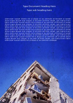 Building Damage Word Template, Cover Page, 05413, Construction — PoweredTemplate.com