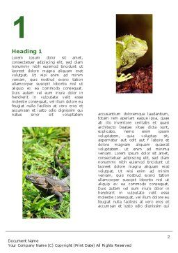 Iguana Word Template, First Inner Page, 05414, Agriculture and Animals — PoweredTemplate.com