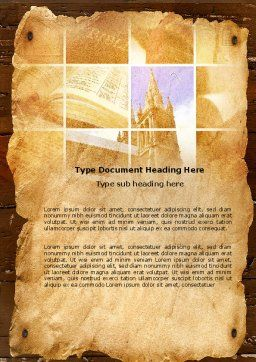 Holy Scripture Word Template Cover Page