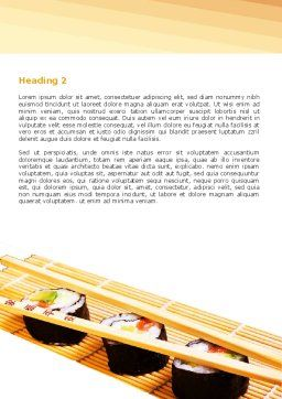 Sushi Rolls Word Template, Second Inner Page, 05420, Food & Beverage — PoweredTemplate.com