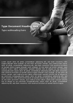 Rugby Football Word Template, Cover Page, 05421, Sports — PoweredTemplate.com