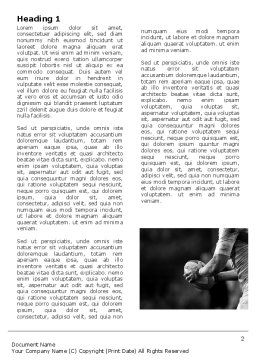 Rugby Football Word Template, First Inner Page, 05421, Sports — PoweredTemplate.com