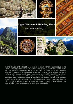 Inca Civilization Word Template Cover Page