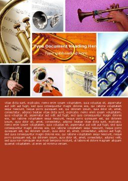 Trumpet Collage Word Template Cover Page