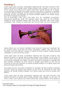 Trumpet Collage Word Template First Inner Page
