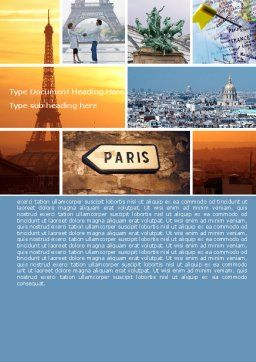 Paris In Collage Word Template Cover Page