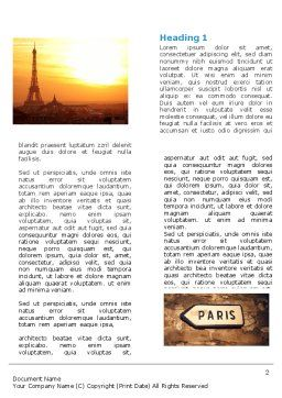 Paris In Collage Word Template First Inner Page