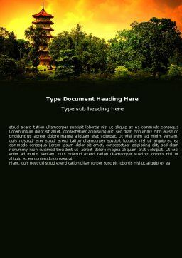 Pagoda Word Template Cover Page